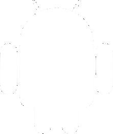 android logo white